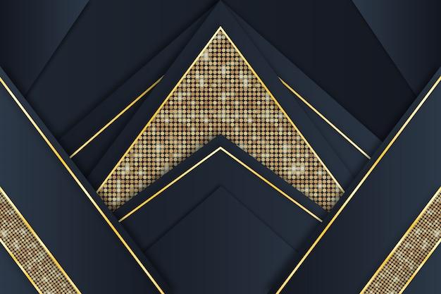 Элегантный темный фон с золотыми деталями