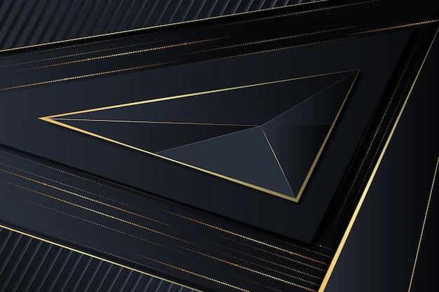 Elegant dark background with golden details