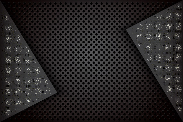 Elegant dark background with overlapping black combinations and sparkling spots