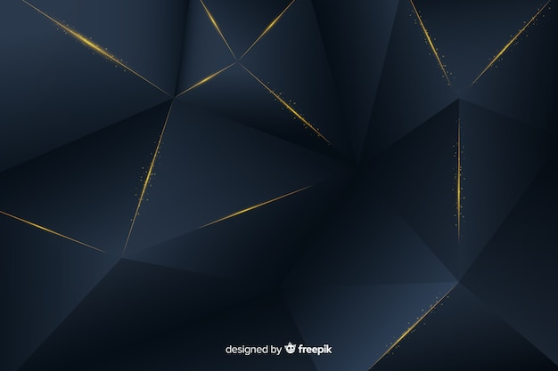 Elegant dark background with polygonal shapes