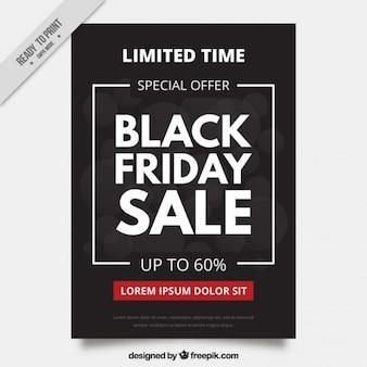 Elegant and dark black friday brochure