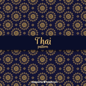 Elegant dark blue thai pattern