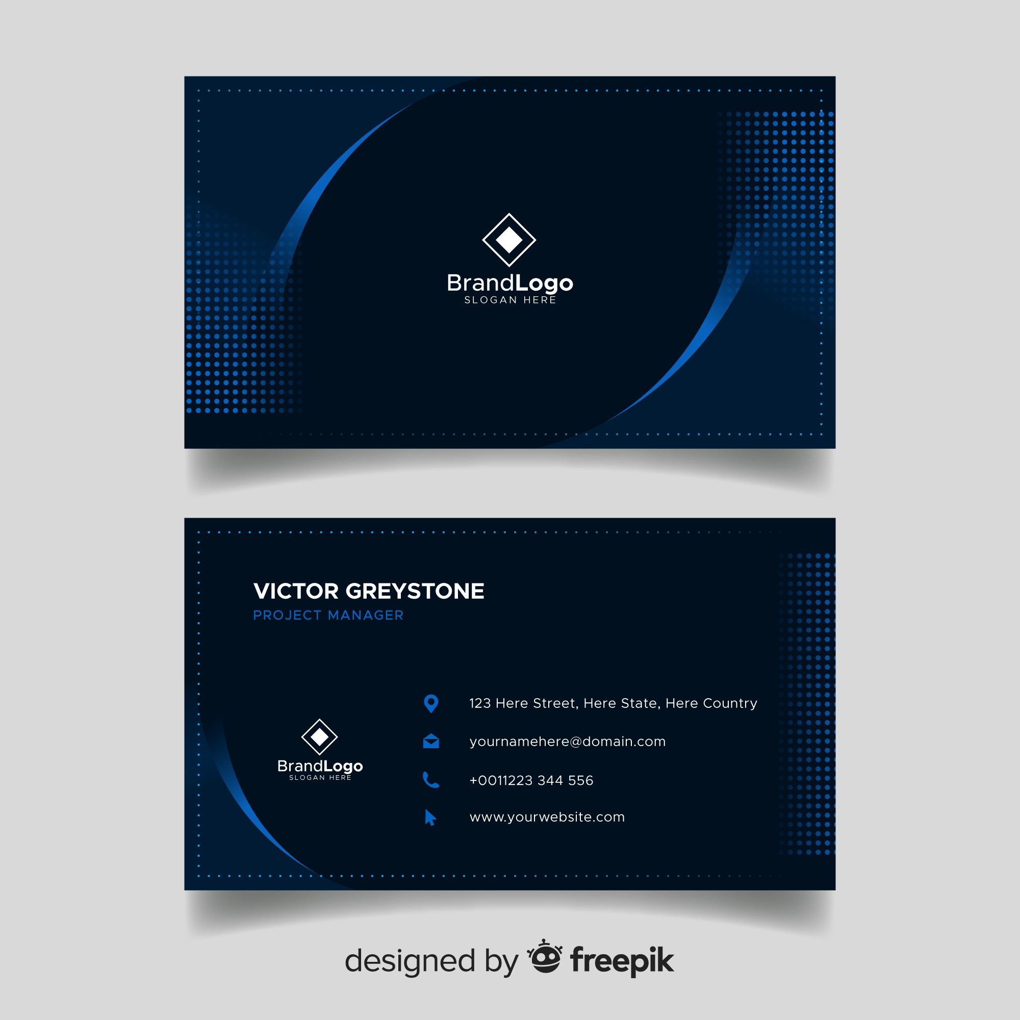Elegant dark business card template design