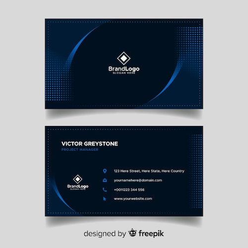 Elegant dark business card template design
