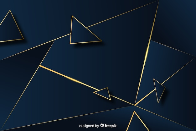Elegant dark and gold polygonal background