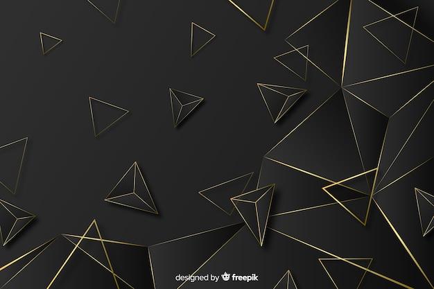 Elegant dark and gold polygonal background