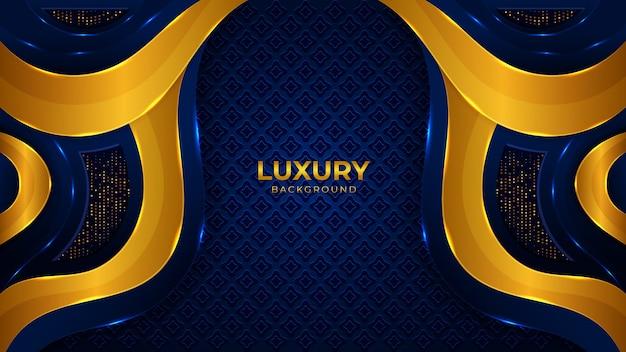 Elegant dark golden luxury background