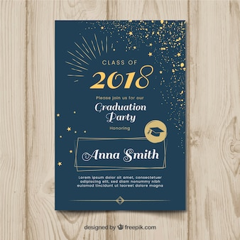 Elegant dark graduation party invitation