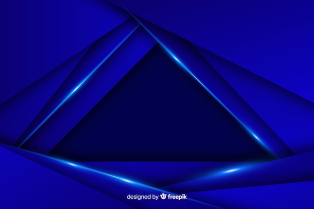 Elegant dark polygonal background on blue