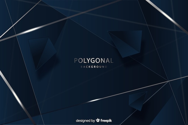 Elegant dark polygonal background design