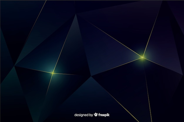Elegant dark polygonal background