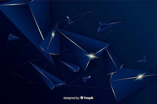 Elegant dark polygonal decorative background