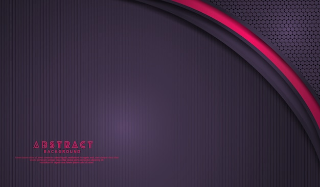 Elegant dark purple overlap layers background with bright pink lines effect on lines textured dark