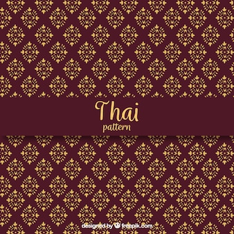 Elegant dark red thai pattern