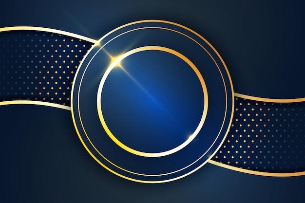 Elegant dark screensaver with golden details