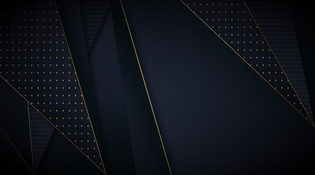Элегантные темные обои с золотыми линиями
