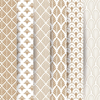 Elegant deco pattern collection