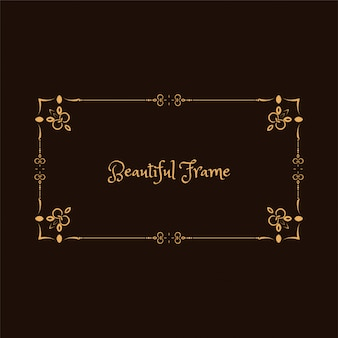 Elegant decorative floral frame design