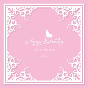 Elegant decorative frame. birthday greeting card template.