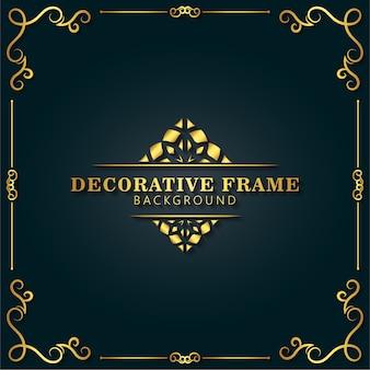 Элегантная декоративная рамка дизайн фона