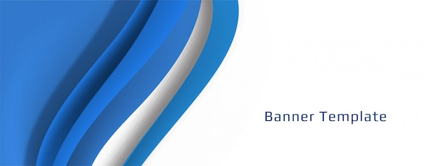 Elegant decorative wave banner design