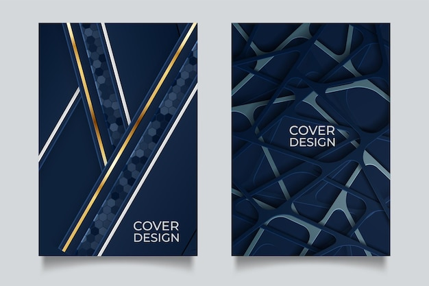 Elegant deep blue color covers set