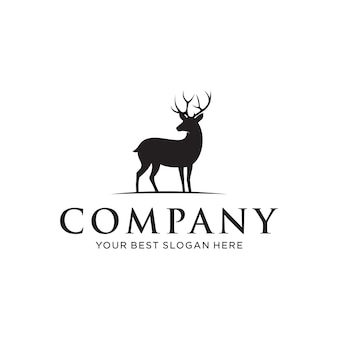 Elegant deer concept for a business logo