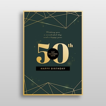 Elegant design for birthday invitation template