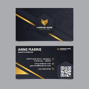 Elegant design business card template