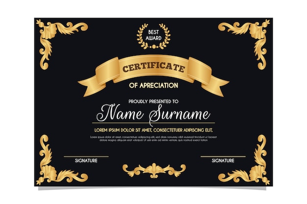 Elegant design for certificate template