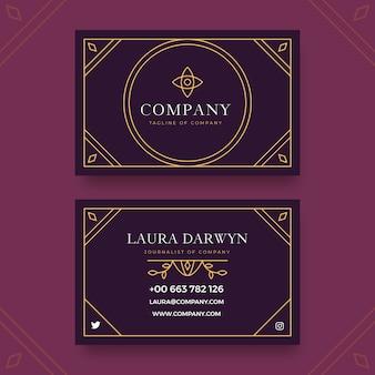 Elegant design company business card