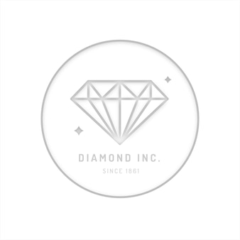 Elegante logo diamante di design