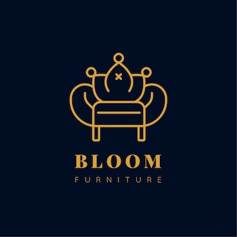 Elegant design furniture logo