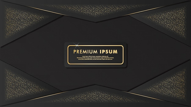 Elegant design gold template background