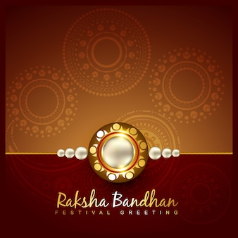 Elegant design for raksha bandhan
