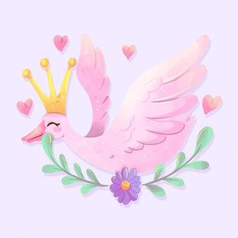 Elegant design swan princess