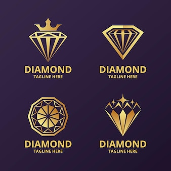 Elegant diamond logo collection