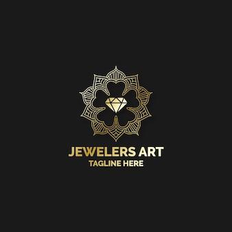 Concetto di logo elegante diamante