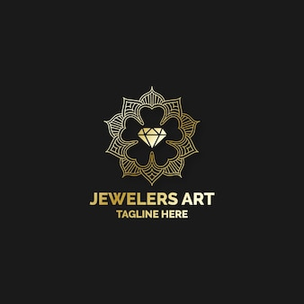 Elegant diamond logo concept