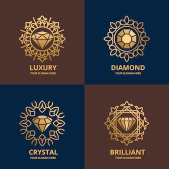 Elegant diamond logo pack