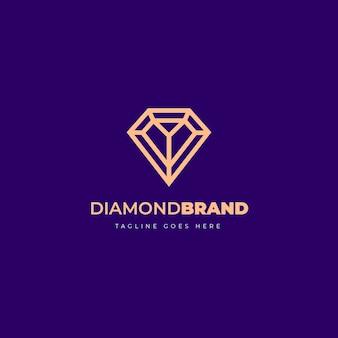 Elegante logo con diamanti