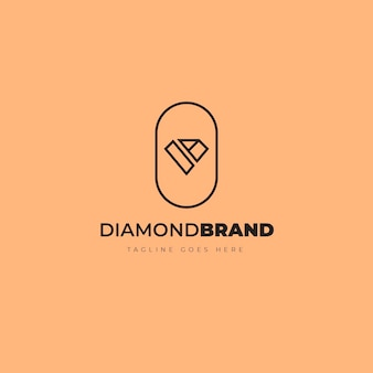 Elegant diamond logo