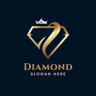 우아한 다이아몬드 로고