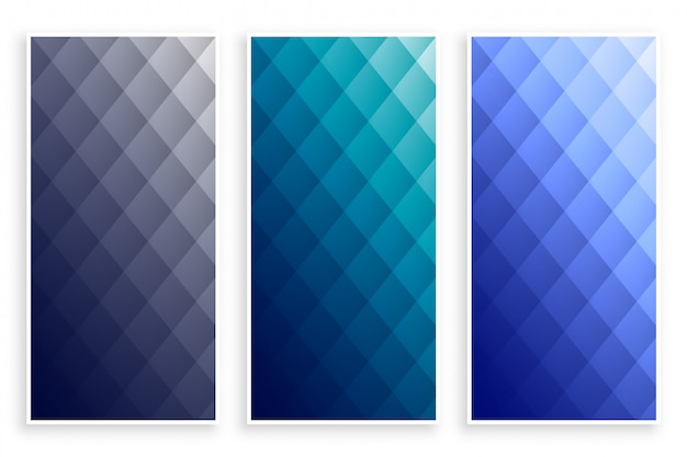 Elegant diamond pattern geometric banners set