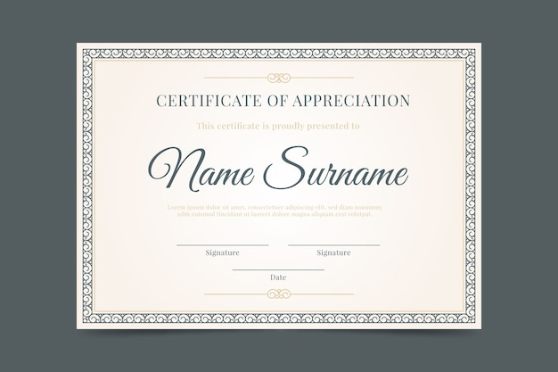 Elegant diploma template
