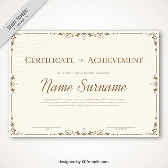 Elegante diploma in stile vintage