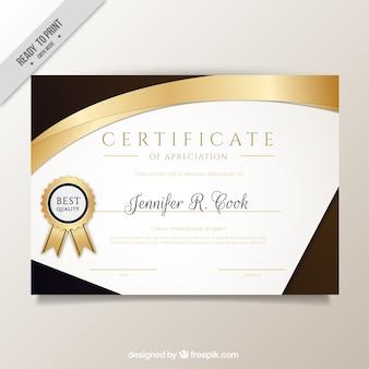 Elegant diploma with golden details