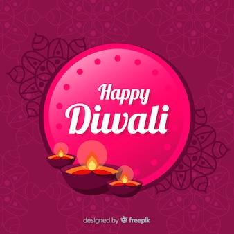 Elegant diwali composition with flat design