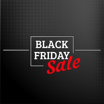 Elegant and dotted black friday background