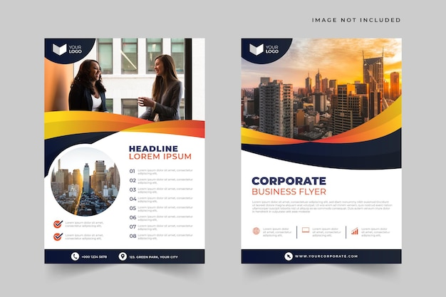 Elegant and dynamic corporate business flyer template